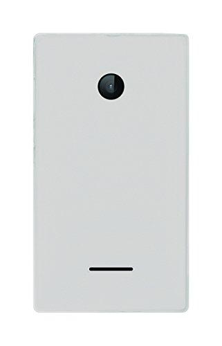 Phonix Gel Protection Plus Durchsichtiges Hülle mit Displayschutzfolie für Microsoft Lumia 532 Weiss