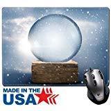MSD Naturkautschuk Maus Pad/Matte mit genähte Kanten 9,8x 7,9A Vintage leer Christmas Snow Globe Bild 24698432 (Bild Globe)