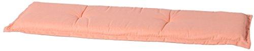 Madison BAN6-B249 Gartenbank, 2-Sitzer Panama peach duo, 120 x 48 cm, Baumwolle / Polyester, pfirsich / taupe