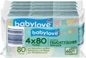 babylove Feuchttücher sensitive 4x80 Stück, 1 x 320 St
