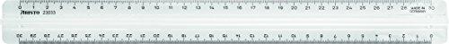 GEOtec GeoCollege Lineal 30cm mit Griff transparent im PP-Beutel (Griff-beutel)