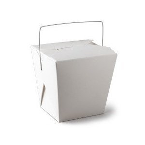 Boxes WHITE 1/2 Pint Size Party Favor and Food Pail by Fold Pak ()