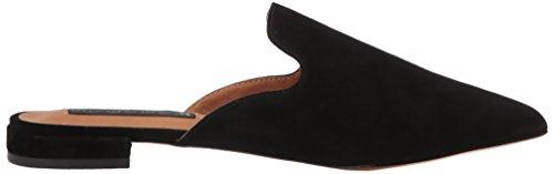 STEVEN by Steve Madden Womens Valent Slip-On Loafer Black Suede