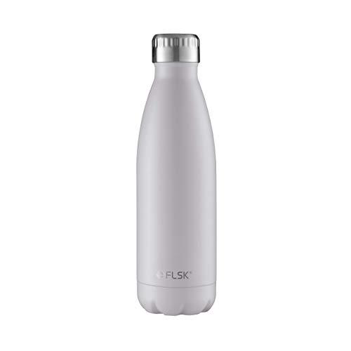 FLSK das Original  Trinkflasche Thermoflasche Isolierflasche hält 18h heiß - 24h kalt (Farbe White, Grösse 500ml ) -