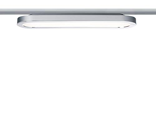 Paulmann LED URail System LED Panel Loop 7W Chrom matt/Chrom 230V Alu/Kunststoff | LEDs fest verbaut 7W 812lm warmweiß | 953.19