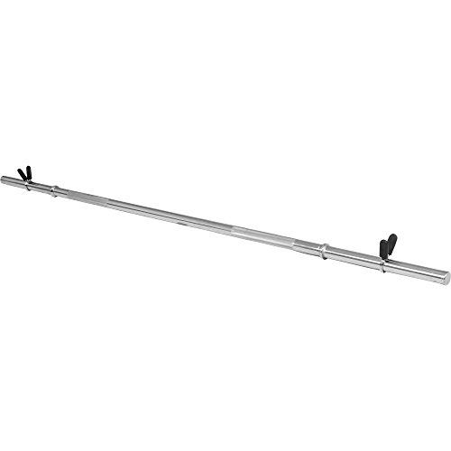 GORILLA SPORTS® Langhantel-Stange 170 cm Chrom mit Federverschluss in Standardnorm für Kraft-Training, Bodybuilding und Fitness