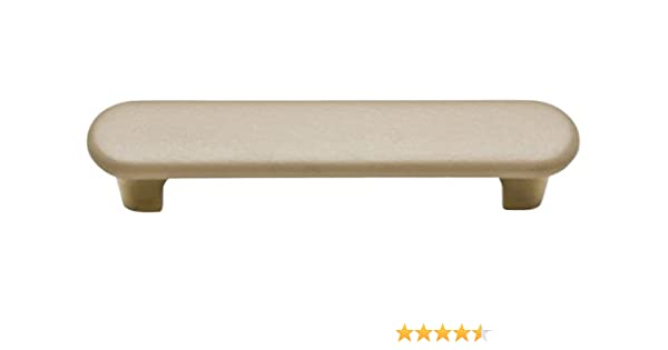 Knobware H3387-BB//310//STK//TAN 3-Inch Tan Sta Kleen Faux Leather Covered Burnished Brass Handle