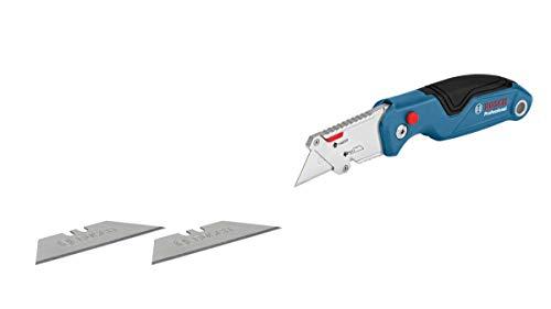 Bosch Professional Universal Klappmesser mit Klingenfach im Metall-Griff (inklusive 2 Ersatzklingen, in Blister)