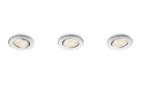 Philips Spot encastrable LED Aluminium Albireo 2700K Luminaire d'intérieur