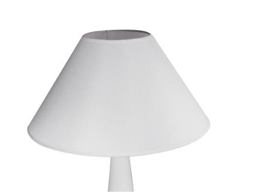 Rayher 2303802 Lampenschirm,  rund, konisch, 35cmø unten, Höhe 22cm, weiß, 100% Polyester, für...