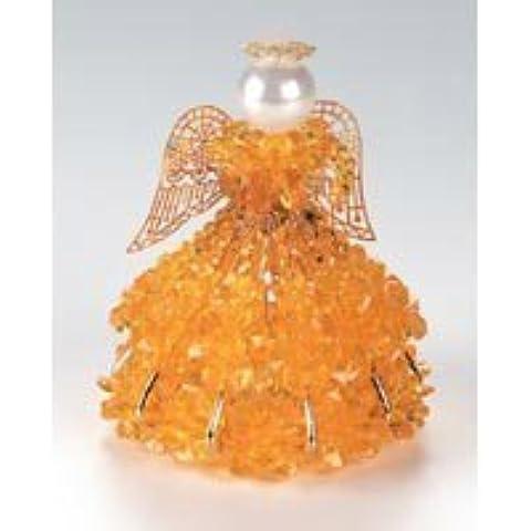 Birthstone Angel Ornament Bead Kit - November Topaz by Darice