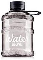 Barrel Water Bottle - Black - 650 ML