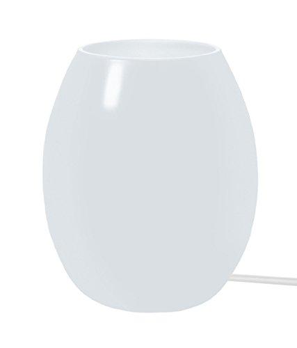Tosel 65214lampada comodino 1luce, vetro, E14, 40W, bianco, 13,5x 16cm
