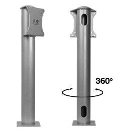 B-Tech Bt7304 Single Pole Flat Screen Desk Mount with Vesa 75 and 100 Interfaces - Silver