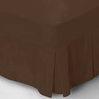 Poly Cotton Fitted Valance Bed Sheets In Various Colors & Sizes (Double, Chocolate)