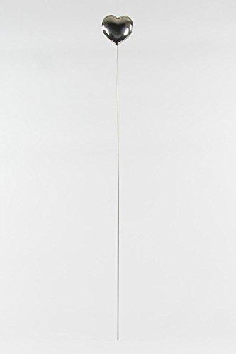 Qubeat Edelstahl Herz mit Stab 10cm rostfrei Dekoration
