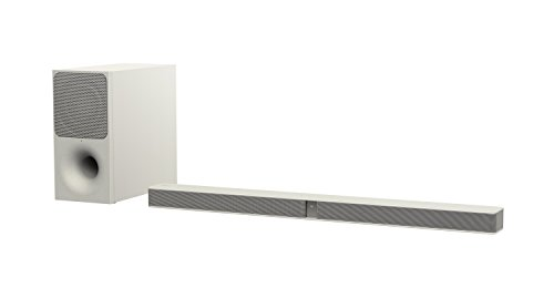 Sony HT-CT291 - Barra de sonido de 2.1 canales (con subwoofer inalámbrico bidireccional, S-Force PRO Front Surround, Bluetooth, 300 W) blanco y crema