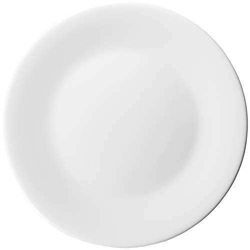 Arcoroc Hochwertige Marken Teller Flach 31cm Essteller Speiseteller Menuteller Pizzateller - Großer Teller Arc. - Geschirr Set - weiß - (6 Stück)