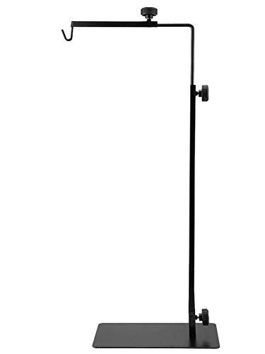 Yunt-11 Soporte de lámpara de 37 Pulgadas sin lámparas, para Usar con Accesorios y terrarios para lámparas de Reptiles, Reptiles, Anfibios, Animales pequeños, Aves y Animales de Granja, Negro