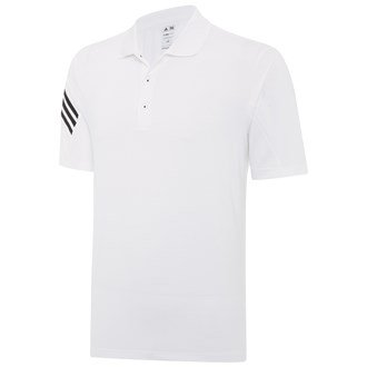2014 Adidas Climalite 3-Stripes Mens Golf Polo Shirt White/Black XL (Golf Herren Ärmel Polo)