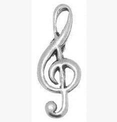 Boîte cadeau en étain pour musicien de musique Clé de sol-cravate Épinglette/broche/Badge