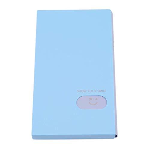 120-Pocket Frauen Kreditkarteninhaber Journal Card Case Book Name Karteninhaber Buch, Sky Blue Nützlich und Praktisch