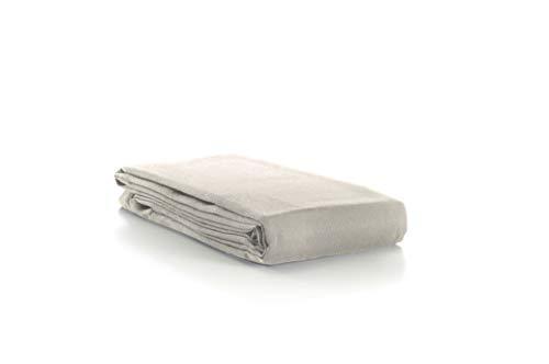 Aminata-Home – Tischdecke Grau 70% Baumwolle 30% Polyester Teflon á 130x160 cm *Made in Europe* abwaschbar Schmutz- & Wasserabweisend Tischläufer Anthrazit Silber Tischtuch Tischwäsche Tischdeko