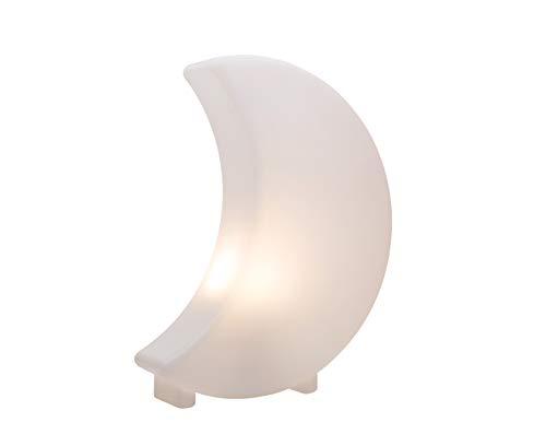 8 seasons design - Dekoleuchte Mond Shining Moon Mini (E27, 40cm, Deko Halbmond, Leuchte für innen & außen: Garten, Terrasse, Balkon, Wohnzimmer, Schlafzimmer, Kinderzimmer) weiß