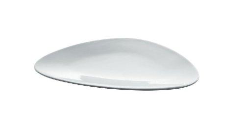 Alessi Fm10/5 Colombina Collection Assiette à dessert en Porcelaine Blanche, Set de 6 Pièces