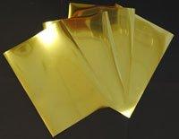 Inkjet bedruckbar glänzend metallic gold Spiegel Folie 100Mikron 40A4Blatt