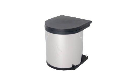 Wesco 10114-42 Einbaueimer -Abfallsammler-Inhalt : 11 Liter, Rund, Farbe: Aluoptik