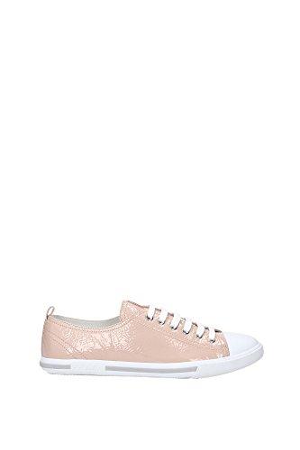 3E5811CIPRIA Prada Sneakers Femme Cuir Verni Rose Rose