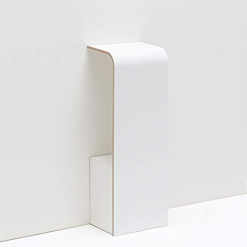 Tojo fon - Wandkonsole für das Telefon - Weiß - Moderne Wandablage für Telefon, Schlüssel, Notizzettel - Telefontisch aus Holz - Designer Regalkonsole 31 cm x 25 cm x 85 cm (L x T x H)