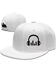 Custom Unisex Adjustable Fashion A Set Of Headphones Snapback Flat Baseball Cap One Size