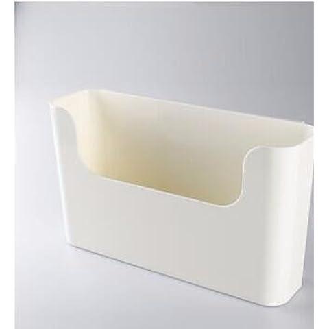 AQPDJConstruido-en-el-bin no-marca propiedad de la superficie admitir desde el cartucho de grapas montado en la pared del compartimiento de almacenamiento de desechos cartucho , organizar grandes en blanco