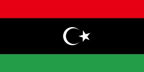 Libya National Flag 5ft x 3ft New rebel by Klicnow -