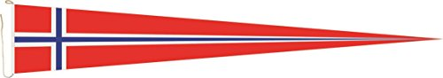 U24 Langwimpel Norwegen Fahne Flagge Wimpel 300 x 40 cm Premiumqualität