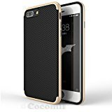 iPhone 8 Plus / 7 Plus Hülle, Cocomii Demon Armor NEW [Heavy Duty] Premium Carbon Fiber Slim Fit Shockproof Hard Bumper Shell [Military Defender] Full Body Dual Layer Rugged Cover Case Schutzhülle Apple (Gold) Iphone 5s Mirror Screen Protector