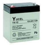 Batería Yucel Y4-12 4Ah 12V (90mm*70mm*101mm) Para alarma, SAI´s (UPS), luces de emergencia...