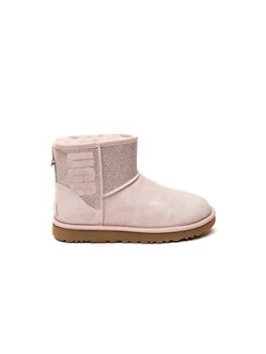 UGG Damen Booties CLASSIC MINI SPARKLE - seashell pink, Größe:37 EU