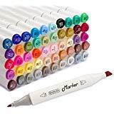 Best Art Markers - Shuttle Art 50 Colours Dual Tip Art Markers,Permanent Review