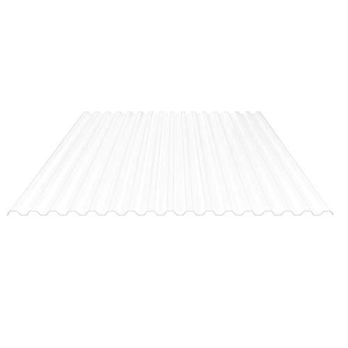 Lichtplatte   Spundwandplatte   Profil 76/18   Material Polycarbonat   Breite 1045 mm   Stärke 1,3 mm   Farbe Opal Weiß
