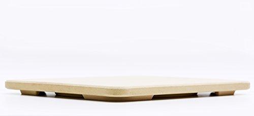# 1Pizza Stein–Backen Stein. Solido rechteckig 35,6x 40,6cm–Perfekt für Ofen, BBQ und Grill