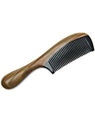 Natürliches Aroma grün Sandelholz Haar Kamm, natürliches Schwarz Ochse Horn Kamm, traditionelle handgemachte Kunst die grüne Sandelholz Ecke Kämme, feine...
