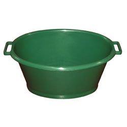 EDA Plastiques DAVBQOV70 Baquet Ovale Plastique Vert 70 L