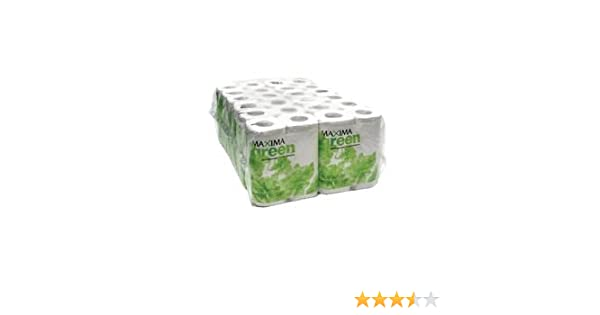 Maxima Green 2-Ply White Toilet Roll 200 Sheet Pack of 48 KMAX200G