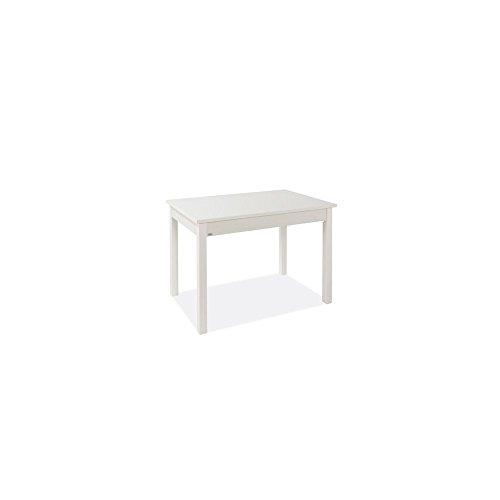 Tavolo Pranzo Allungabile Bianco Frassinato Legno Nobilitato Cm 60x90/120
