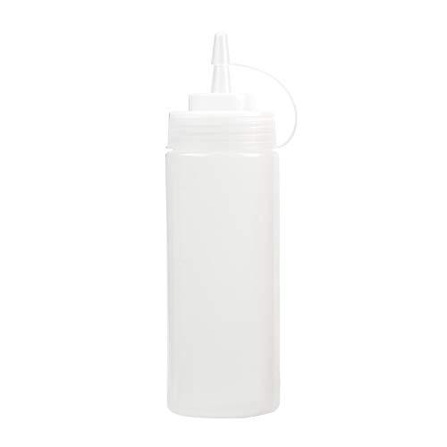 6c111536942e iTimo Plastic Squeeze Bottle, Saucenessigöl-Ketchup Distributeur, Weiß, 12  Unze
