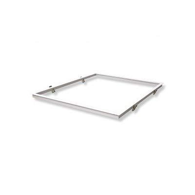Vision-EL 773977 Cadre Placo Dalle Encastrable, Aluminium, Blanc, (L (L x I x H)-630 x 630 mm