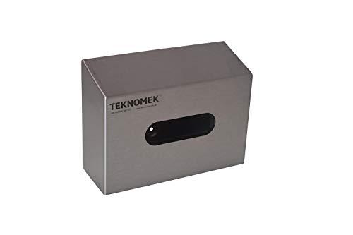 Robusto dispensador de guantes para montar en la pared con ranura, acero inoxidable | Sin solapa | Superficie inclinada, fácil de limpiar | Sin piezas de plástico - 258 x 96 x 190 mm